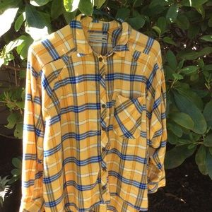 Urban outfitters shirt yellow soft flannel
